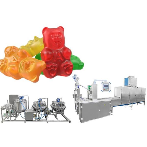Automatic jelly gummy jelly sweets gummy halal making machine for high output